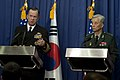 Defense.gov News Photo 101208-N-0696M-146 - Chairman of the Joint Chiefs of Staff Adm. Mike Mullen U.S. Navy and Chairman of the South Korean Joint Chiefs of Staff Gen. Han Min-koo address.jpg