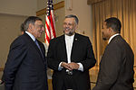Defense.gov News Photo 120725-D-BW835-487 - Secretary of Defense Leon Panetta speaks with South African Ambassador Ebrahim Rassol, center, and Imam Talib Shareef who is a retired Air Force chief master sergeant and.jpg