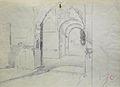 Dehodencq A. - Pencil - Etude d'entrée d'une mosquée, probablement en Espagne - 30x41.1cm.jpg