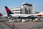 Delta N124DE Boeing 767-300 ATL Gate June 2014 (40221692640).jpg