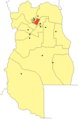 location of Maipú Department in Mendoza Province