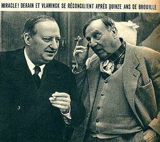 Maurice de Vlaminck - Photograph of André Derain (left) and Vlaminck (right), 1942