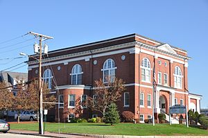 National Register of Historic Places listings in Rockingham County, New Hampshire - Image: Derry NH Adams Memorial Building 01