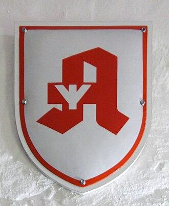 Algiz - Image: Deutsches Apotheken Logo mit Lebensrune