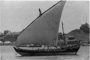 Sambuk - A sambuk in Aden in 1936