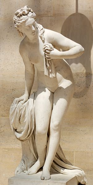 Christophe-Gabriel Allegrain - La Baigneuse (Diane), 1776-78, commissioned by Mme du Barry for Louveciennes