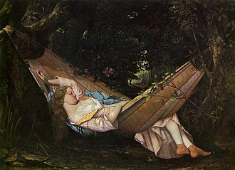 Hammock - The Dream, 1844, Gustave Courbet (1819–1877)