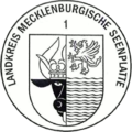 Dienstsiegel Landkreis Mecklenburgische Seenplatte 1 Kreiswappen.png
