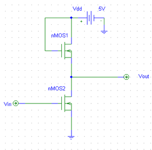 Inverter (logic gate) - Image: Digital Inverter