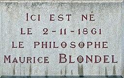 Dijon plaque commémorative Maurice BLONDEL