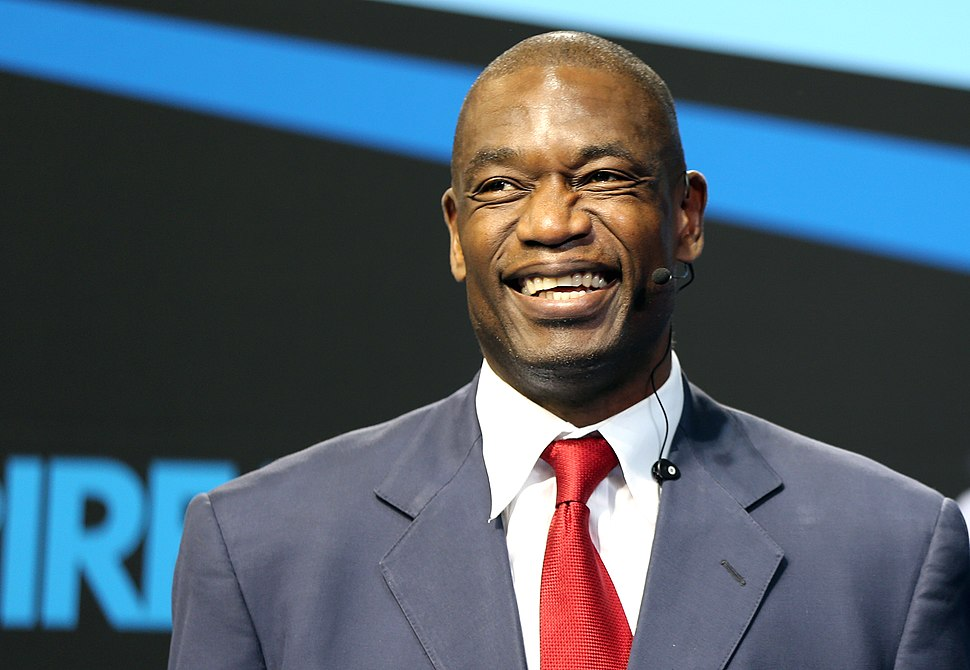 Dikembe Mutombo at the Aspire4Sport Congress in Doha.