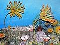 Diorama of a Devonian seafloor - crinoids, corals, algae (43838401380).jpg