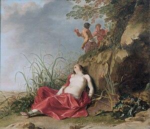 Dirck van der Lisse - Sleeping nymf by Van der Lisse