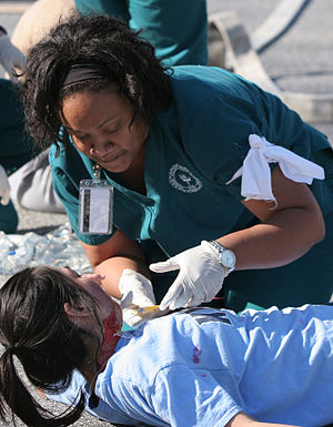 Piedmont College - Students from Piedmont College's Nursing Department participate in an annual disaster drill to practice their triage skills. The 2015 drill simulated a gas tank explosion!