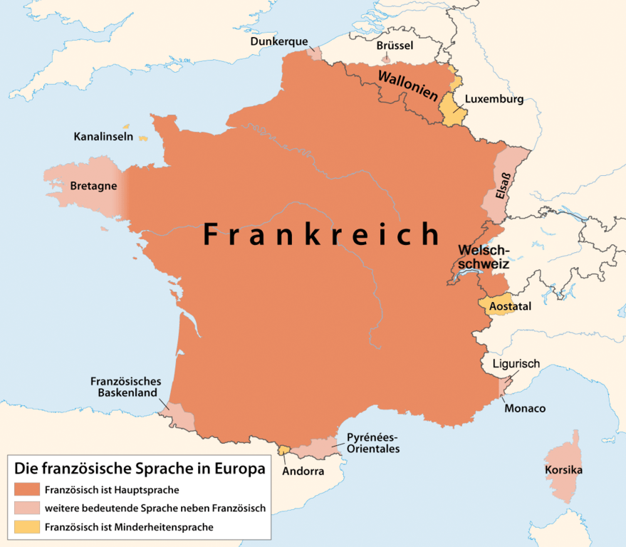 France On A Map Of Europe.File Distribution Map Of The French Language In Europe Png