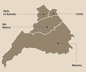Limón (canton) - Districts of Limón canton