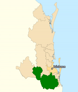 Division of Wright - Division of Wright in Queensland, as of the 2016 federal election.