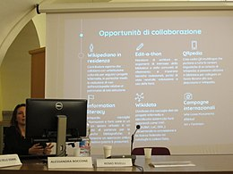 Do librarians dream of Wikipedia meeting Boccone-Rivelli 02.jpg