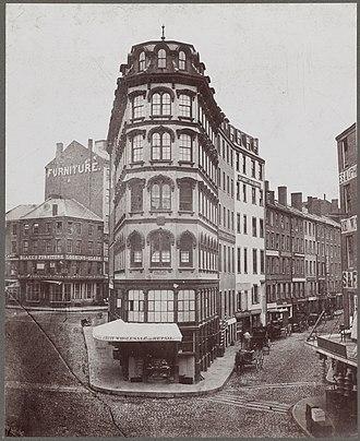 Adams Square (Boston) - Image: Dock Square 1860