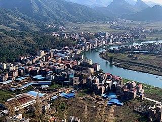 Dongxing, Huanjiang County Town in Guangxi, China