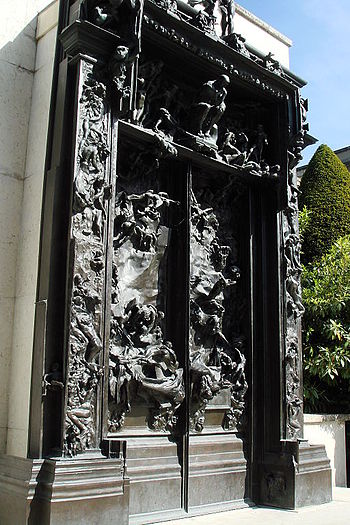 "A Rodin Sculpture titled ""door to hell&qu..."