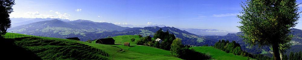 Landschap in Vorarlberg