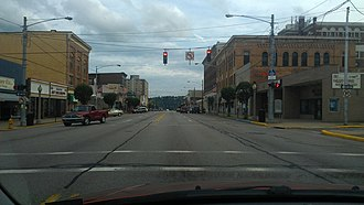 Beaver Falls, Pennsylvania - A view of Downtown Beaver Falls in 2013.