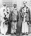 Dr Babasaheb Ambedkar with Karmaveer Bhaurao Patil (left) and Sant Gadge Maharaj (center) in July 14, 1949.jpg