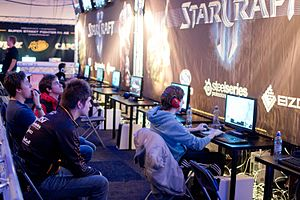 DreamHack - StarCraft players at DreamHack Winter 2012.