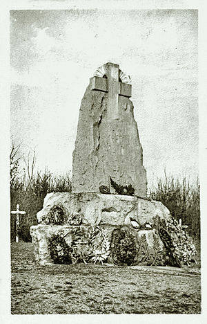 Émile Driant - Memorial to Émile Driant and his battalion in the Bois des Caures, Flabas, France.