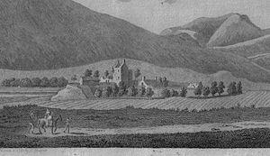 Peeblesshire - Drumelzier Castle by Francis Grose c.1790