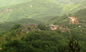 Drvengrad - Overview of the entire Drvengrad village