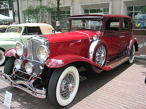 """A Duesenberg, """"one of the greatest luxury..."""