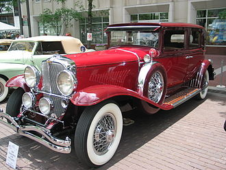 "Luxury vehicle - A Duesenberg, ""one of the great luxury cars"" with custom body by Willoughby"