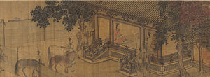 Li Tang (painter) - Duke Wen of Jin Recovering His State attributed to Li Tang (1140)