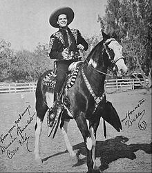 Duncan Renaldo As The Cisco Kid With His Horse Diablo