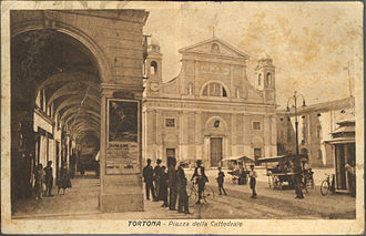 Tortona - Tortona Cathedral (postcard from c.1890).