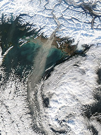 High-nutrient, low-chlorophyll regions - Dust blown off the Alaskan coast into the North Pacific.
