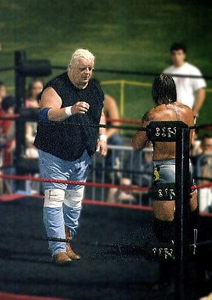 Dusty Rhodes (wrestler) - Rhodes facing Kid Kash in Ballpark Brawl