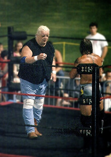 Rhodes facing Kid Kash in Ballpark Brawl Dusty-kid XII.jpg
