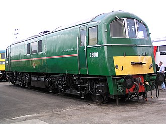 British Rail Class 71 - E5001 at Doncaster Works.