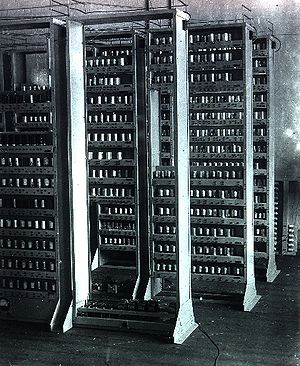 EDSAC I in construction. EDSAC was one of the ...