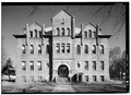 EXTERIOR, SOUTH FRONT - Union County Courthouse, Courthouse Square, Elk Point, Union County, SD HABS SD,64-ELPO,1-5.tif
