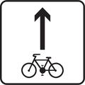 E 16a - Povolený smer jazdy cyklistov (vzor) 2.png
