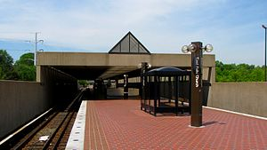 East Falls Church station - Image: East Falls Church station from inbound end of platform