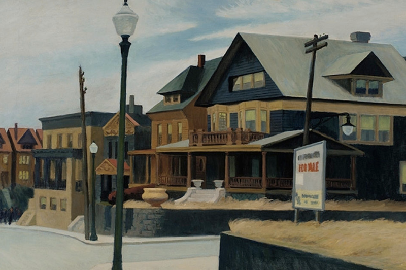 East Wind Over Weehawken, Edward Hopper 1934