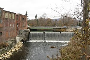 Dalton, Massachusetts - East branch of the Housatonic River, Main Street and Depot Street, 2008.