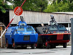 National Police of East Timor - Armoured cars of PNTL