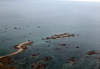 Écréhous - Aerial view of the Ecrehos.