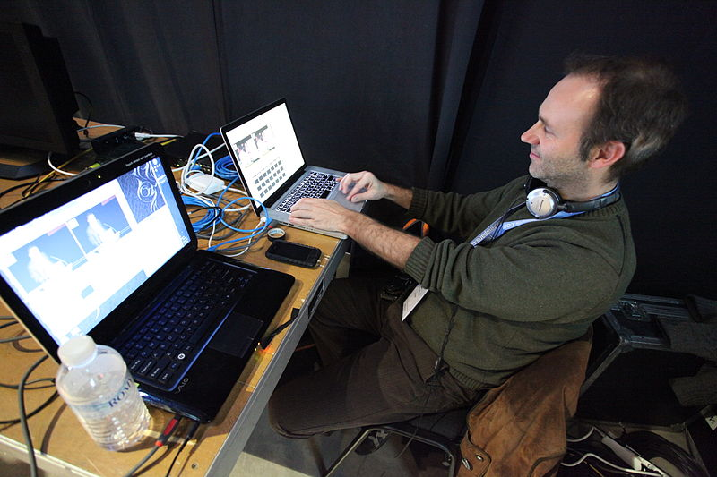 File:Eddie Codel runs the Ustream feed and encoders at Leweb.jpg